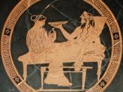 Persephone and Hades. Tondo of an Attic red-figured kylix, ca. 440-430 BC. Said to be from Vulci.