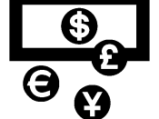 English: Currencies exchange logo Français : Logo symbolisant le change de devises