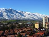 Español: Pre Cordillera nevada Santiago Chile