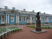 English: Francesco Bartolomeo Rastrelli monument in Tsarskoe Selo, St Petersburg, Russia
