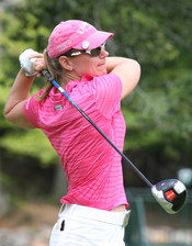 Annika Sörenstam (SWE) during pro-am before 2008 LPGA Championship.