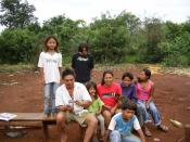 Guarani nuclear family of Mato Grosso do Sul, Brasil