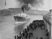 Ship Tahiti, Wellington Harbour, 1928 or 1929
