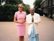 English: Princess Diana meeting with Sri Chinmoy, Kensington Palace, May 21st 1997