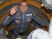 Shuttleworth on board the International Space Station
