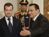 English: CAIRO. With President of Egypt Hosni Mubarak. Русский: КАИР. С Президентом Египта Хосни Мубараком.