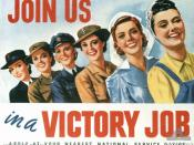 English: Join us in a victory job poster