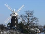 Wray Common windmill in the snow