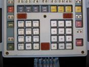 Mir Space Station Command Control Console and Monitor