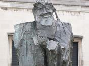 Wu Wei-shan's 'Confucius' Sculpture outside the Fitzwilliam Museum