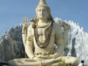 This Statue of Shiva is Approximately 65 feet tall and is made of concrete and is located at Murugeshpalya at Bangalore. There is a tunnel like structure underneath the statue where different models of Shiva are kept.