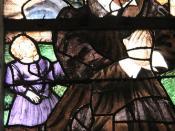 Le Jour ni l'Heure 8729 : donateur père de famille, dét. des vitraux du XVIe s., église Saint-Pierre de Montfort-l'Amaury, Yvelines, Île-de-France, samedi 18 août 2012, 17:16:21