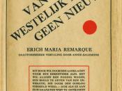 Dustjacket first Dutch edition All Quiet on the Western Front 1929