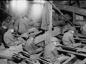 English: Breaker boys sort coal in at an anthracite coal breaker near South Pittston, Pennsylvania, in 1911. Photograph by Lewis Hine for the National Child Labor Committee.