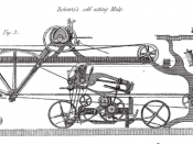 Roberts'_Self_Acting_Mule: Capture from Baines 1835, Illustrations from the History of the Cotton Manufacture in Great Britain .Pub H. Fisher, R. Fisher, and P. Jackson