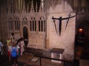 Altar marking the spot of Thomas Becket's martyrdom, Canterbury Cathedral.