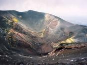 Valle del Bove, Mount Etna. A lateral crater of the 2002-2003 eruption near the Torre del Filosofo, about 450 metres below Etna's summit.