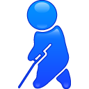 A physical defficient person icon