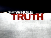 Intertitle from the ABC television program The Whole Truth