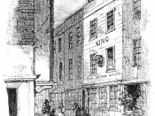English: Cock Lane as seen in MEMOIRS OF EXTRAORDINARY POPULAR DELUSIONS AND THE Madness of Crowds, 1852