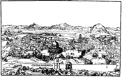 English: Engraving of Jerusalem Panorama