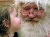 English: Santa Claus with a little girl Esperanto: Patro Kristnasko kaj malgranda knabino Suomi: Joulupukki ja pieni tyttö