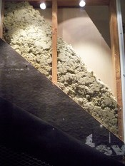 A display of home insulation at the Smithsonian National Museum of American History.
