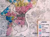 HOLC's 1936 security map of Philadelphia showing redlining of minority neighborhoods. People who lived in the red zones could not get mortgages to buy or improve their homes.
