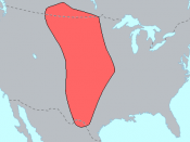 Range of Plains Indians at the time of first European contact