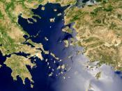 The Aegean Sea – satellite image