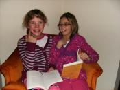 Laura and Kelsey reading