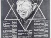 1941 Nazi propaganda poster in the Lithuanian language, equating Stalinism with the Jews. The text reads