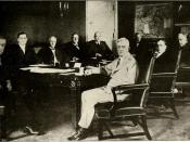 President Woodrow Wilson and his war cabinet.