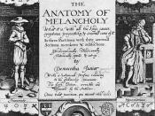 The frontispiece for the 1638 edition of Robert Burton's The Anatomy of Melancholy