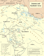 United Nations' map of Jammu and Kashmir, accepted by the Kashmiris and the Pakistani government