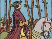 Six of Wands from the Rider-Waite Tarot deck