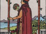 Two of Wands from the Rider-Waite Tarot deck