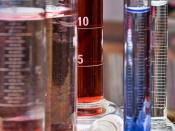 Test tubes and other recipients in chemistry lab