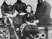 Alexander Graham Bell with his wife Mabel Gardiner Hubbard and their children Elsie May Bell (far left) and Marian Hubbard Bell.