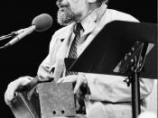 English: Allen Ginsberg, Miami Bookfair International, 1985