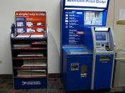 Automated Postal Center and new Priority Mail box display