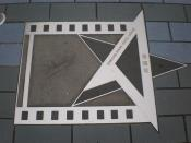 Star of Leslie Cheung Kwok Wing on the Avenue of Stars in Hong Kong.