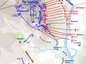 English: (Map of actions in the Battle of Gettysburg, second day, Culp's Hill, evening battle. Drawn by Hal Jespersen in Macromedia Freehand. Graphic source file is available at http://www.posix.com/CWmaps/ New version improves accuracy of unit positions