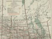 [Manitoba Saskatchewan Section of Map Showing the Land Registration and Judicial Districts] 1919