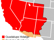 Loss of California, Nevada, Arizona and other regions due to the Mexican Cession and the Gadsden Purchase.