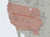 The territory ceded to the United States of America by Mexico in 1848, after the end of the [[:Category:Mexican-American War|Mexican-American War. The loss equalled about one third of Mexico's total lands at the time.