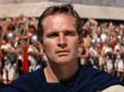 Cropped screenshot of Charlton Heston from the trailer for the film Ben Hur
