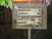 Potters Bar sign