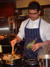 English: Alejandro Saravia hosts Peruvian Cuisine cooking classes at the Electrolux Cooking School in Melbourne