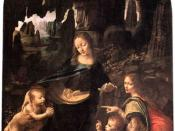 Virgin of the Rocks, Louvre, demonstrates Leonardo's interest in nature.